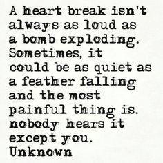 A heart break...