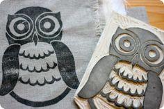 Owl prints.