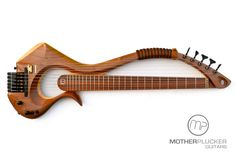 6 string synth electric Bass Harp - Motherplucker Guitars