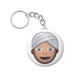 Man With Turban Emoji Key Chain