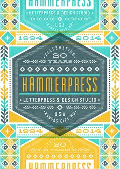 @Hammerpress @JennRogers I LOOOOVE this!!  Hammerpress 20th Anniversary.  Got one of these beauties in the mail yesterday.. Going to be a great time to celebrate with some friends.