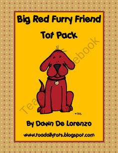 BIG RED Furry Friend Tot Pack product from Toadally-Tots on TeachersNotebook.com