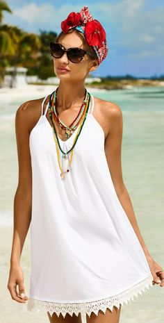 PilyQ Water Lilly Aria Dress is a swimwear cover up dress.
