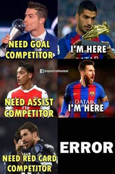 Sport poster soccer football Ideas for can find Football memes and more on our website.Sport poster soccer football Ideas for 2019 Funny Football Memes, Football Troll, Funny Sports Memes, Football Is Life, Sport Football, Nfl Sports, Cr7 Junior, Barcelona, Soccer Poster