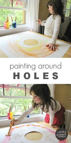 Hole in paper art activities for kids encourage them to think and create…