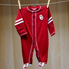Oklahoma Baby Sport Shoe Footed Romper