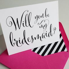 Will you be my bridesmaid? Funny ways to ask your bridal party, wedding planning, wedding stationery, wedding trends