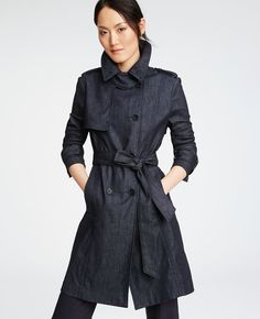 So chic!!! Dark denim!! Ann Taylor Fall 2015