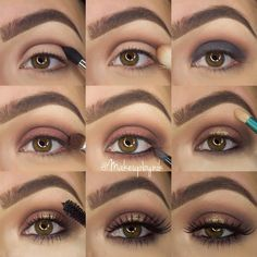 """""""Step by step for my last look using @toofaced Chocolate Bar Palette✨ 1• Apply Semi-Sweet to crease 2• Soften and blend out with Salted Caramel 3• Apply…"""""""