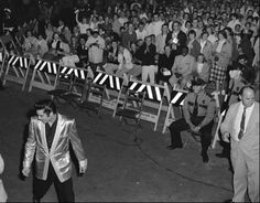 Elvis takes the stage in Seattle, Sept. 1, 1957 (Museum of History & Industry-Seattle photo)