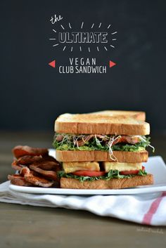 The Ultimate Vegan Club Sandwich, all your co-workers and classmates would be jealous of | http://www.radiantrachels.com/ultimate-vegan-club-sandwich/