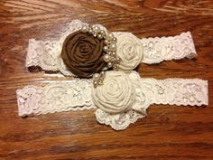 My first attempt diy garter weddingbee diy projects weddings my diy garter wedding brown diy garter ivory photo 3 solutioingenieria Images