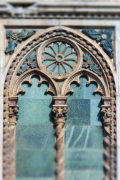 Gothic Window, Florence, Italy by Georgianna Lane