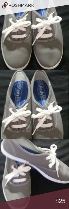 Keds Gray Sneakers Keds Gray sneakers size 7.5 brand new worn once Keds Shoes Athletic Shoes