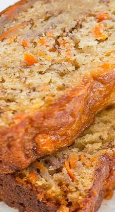 Easy Banana Carrot Bread Recipe - Averie Cooks - Carrot Banana Bread Best Picture For snack recipes For Your Taste You are looking for something, - Bread Cake, Dessert Bread, Quick Dessert, Banana Carrot Bread, Carrot Loaf, Banana Bread Muffins, Healthy Banana Bread, Oat Flour Banana Bread, Banana Bread Cupcakes