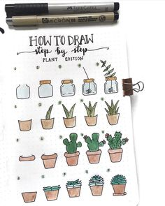 "11.4 k mentions J'aime, 39 commentaires - bullet journal inspiration.  (@bullet.journals) sur Instagram : ""This is so cute! Love these step-by-step plant doodles  by @couleursduvent  // Use the tag…"""