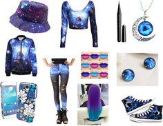 Blue Galaxy by lee-turnup on Polyvore featuring Converse, Vera Bradley and Marc