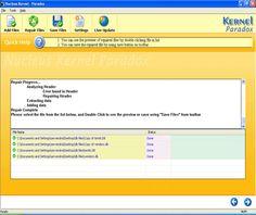 Repairing Screen - Screenshots of Kernel Paradox database recovery software