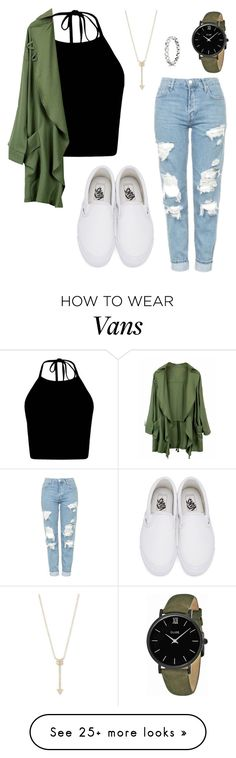 """10 Random Facts Bout Me!"" by annayalee-gerber on Polyvore featuring Topshop, Vans, EF Collection and CLUSE"