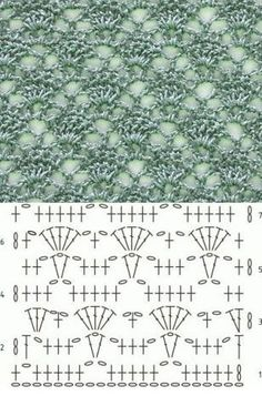 Lace Crochet Stitch Diagram - Knitting Bee