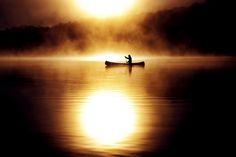 Burning Canoe by Robin B. Powell #PinUpLive
