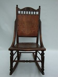 Vintage Armless Rocker Rocking Chair Sit Rock a Spell