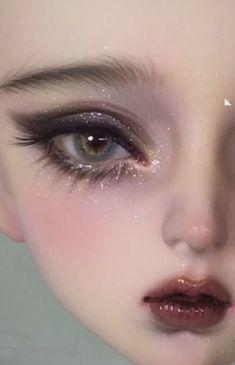 Pretty Dolls, Beautiful Dolls, Pretty Art, Cute Art, Ooak Dolls, Art Dolls, Beautiful Eyes Color, Drag Queen Makeup, Doll Makeup