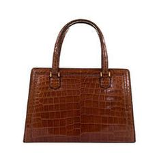 SO RARE! Vintage Hermes Crocodile 'Sac Pullman' in Honey with Gold Hardware