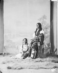 Chief Sinte Galeshka or Tshin-tah-ge-las-kah or Spotted Tail - Brule and his wife, 1872