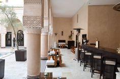 L'un des patio du Riad Fés. Riad Fes, Le Riad, Conference Room, Table, Furniture, Home Decor, Morocco, Decoration Home, Room Decor