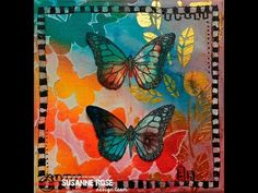 Mixed Media Canvas with Brushos and ARTploration's stencils - YouTube