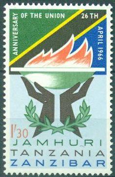 Union of Zanzibar & Tanzania 1.30shs 1966