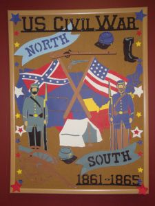 Civil War bulletin board display