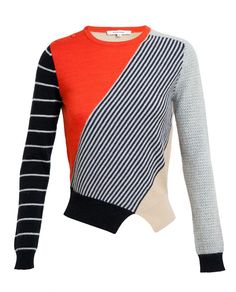 CARVEN | Contrasting Patterned Wool-angora Jumper