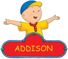 Great  Caillou Personalized with your name   t-shirt fabric IRON ON transfer