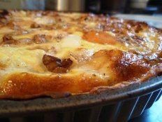 Quiche met bloemkool, Gorgonzola en walnoten