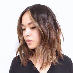 Haircut for Long Hair Korean Beautiful Lob Hair Inspiration Beauty Hairstyle Long Bob asian Asian Haircut, Lob Haircut, Lob Hairstyle, Asian Hair Lob, Asian Hair Highlights, Asian Bob, Subtle Highlights, Medium Hair Cuts, Medium Hair Styles