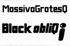 Massiva GrotesQ Black obliQ. Sans Serif Fonts. $13.00