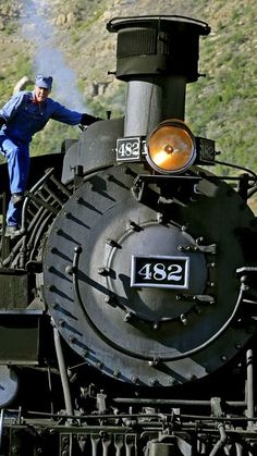 L.A. Times photographer Mark Boster snapped this photo of Durango & Silverton engineer Mike Nichols on his steam locomotive.