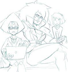 Peridot, Jasper, Lapis Steven universe su homeworld gems   Cartoon Network animation fanart