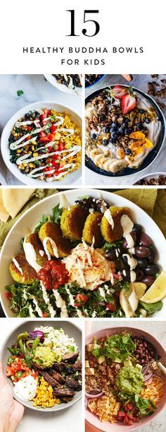 Healthy Buddha Bowls Even Kids Will Love Here are 15 kid-friendly buddha-bowl meals that the entire family will get excited about.Here are 15 kid-friendly buddha-bowl meals that the entire family will get excited about. Cooking For A Crowd, Cooking On A Budget, Plat Vegan, Carb Cycling Diet, Healthy Snacks, Healthy Eating, Healthy Dinners, Nutritious Meals, Healthy Kids