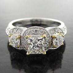 Engagement Rings Square Cut Vintage 17
