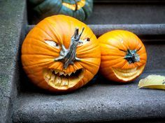 Cool Pumpkin Carving Ideas. some of these are way out of my league (and patience level) but cool!! Love the smily one here!