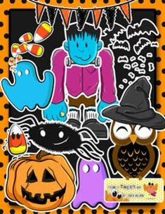 "This cute Halloween/ Fall Pack Includes ten, very large, high definition clip-art resources for TeachersPayTeachers projects or personal lessons.Included are images of:-""Franky"" or Frankenstein-Candy Korns-Halloween Owl-""Blue"" the ghost-""Violet"" the ghost-""Jack"" the Jackolantern-Bats-""Carl"" the candy corn-""Sam"" the spider-Fall/Halloween BannerMake sure to follow me for for this pack and more upcoming teaching resources!All images are in .png format for easy use and layering for teaching…"