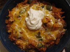No Tortilla Cheesy Chicken Enchilada Bake THM - S meal, minus a little cheese for dairy sensitivity