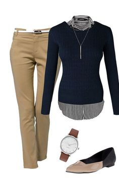Top only - pairs w/ cranberry pants or light grey instead #dressescasual