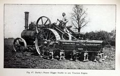 Inch Print - High quality prints (other products available) - The Derby land digger, a plough which is attached to a traction engine. (Photo by Hulton Archive/Getty Images) - Image supplied by Fine Art Storehouse - Photograph printed in the USA