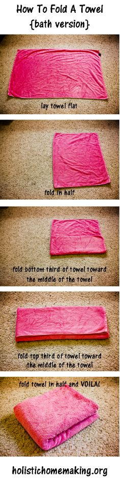 Holistic Homemaking | health. home. life. – How To Fold A Towel Tutorial