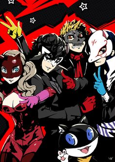 Image about cute in Persona 5 🐱❤ by danaaa♡ on We Heart It Persona 5 Joker, Persona 4, Hotarubi No Mori, Shin Megami Tensei Persona, Akira Kurusu, Deadman Wonderland, Video Game Art, Video Games, Nerdy