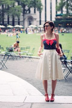 Emilee Anne wearing vintage, Prada and Chanel and July Fourth!
